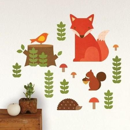 Kids Jake and Jones Petit Collage Woodland Wall Decal