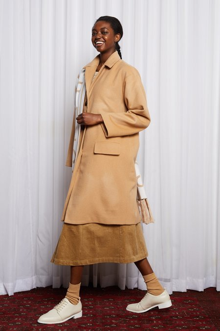 Salasai Lynch Wool Coat - Camel