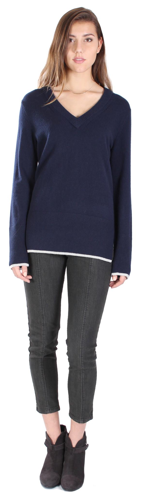 Rag & Bone Flavia V Neck Cashmere Sweater