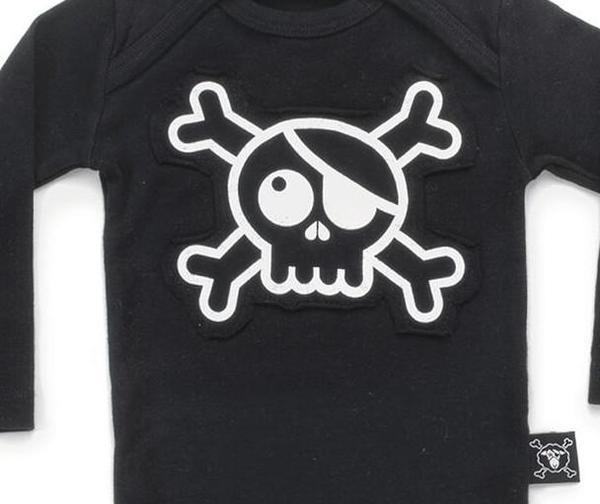 Kids Nununu Skull Patch Bodysuit