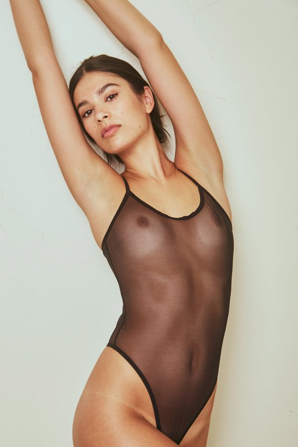 5f9fa81232aa The Great Eros Canova Bodysuit - Black   Garmentory