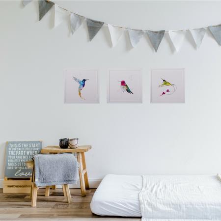 KIDS Petit Kolibri Anna humingbird Illustration