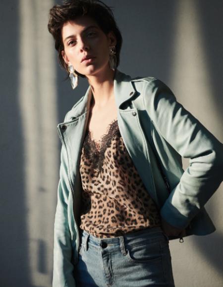 SET Lace Camisole - Leopard Print