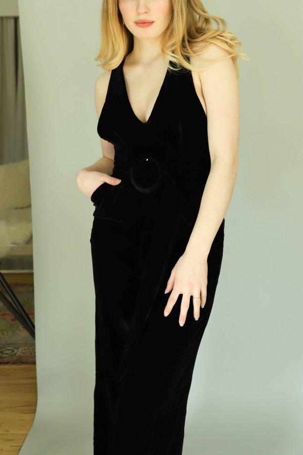 Style Mafia Velvet Oli Jumpsuit - Black