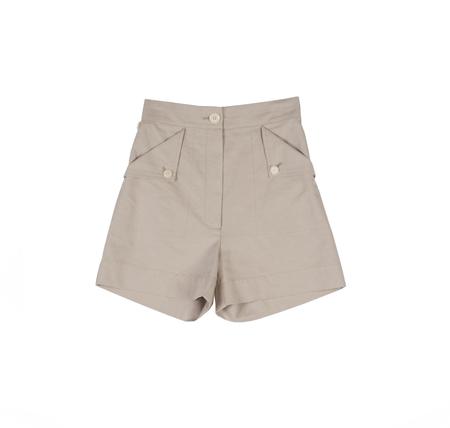 Ilana Kohn Huxie Shorts in Oat Ctn/Linen