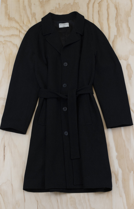 EDITIONS M.R. Tristan Belted Overcoat - SLATE GREY