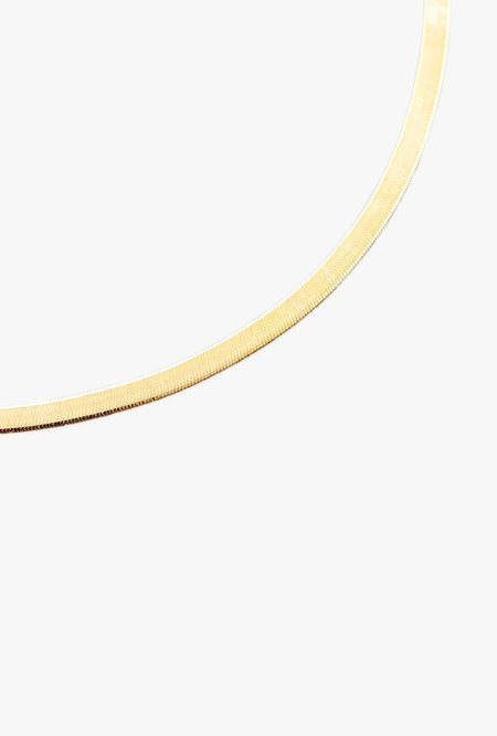 "Loren Stewart 16"" Herringbone Necklace - 10k Yellow Gold"