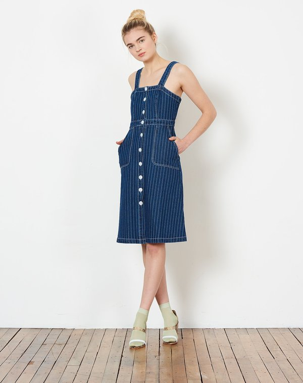 e1162bb6408d Rachel Antonoff Alma Button Down Dress - Railroad Stripe
