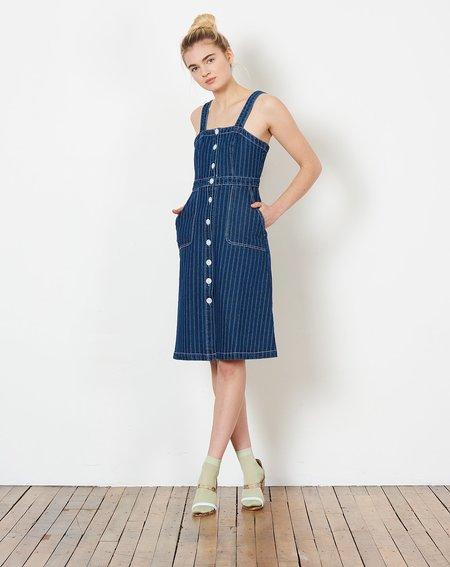Rachel Antonoff Alma Button Down Dress - Railroad Stripe