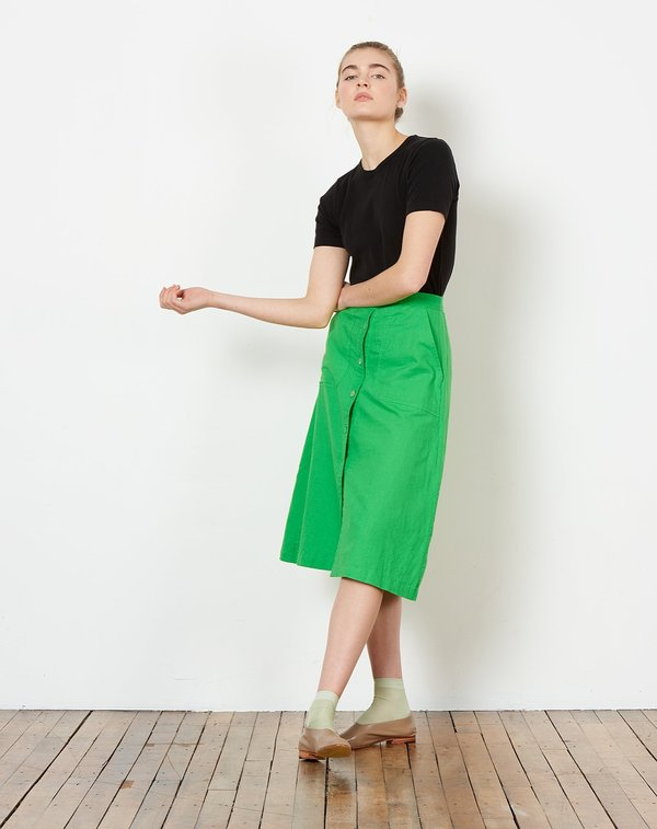323b270d38 Rachel Antonoff Rosemary Button Down Skirt - Kermit Green. $178.00$89.00. Rachel  Antonoff