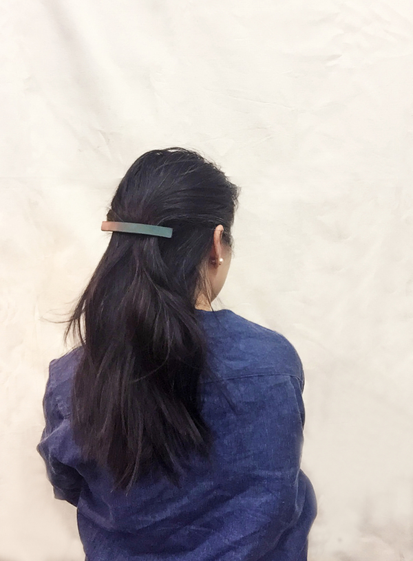 Bartleby Objects Thin Leather Barrette