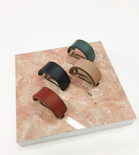 Bartleby Objects Leather Ponytail Barrette