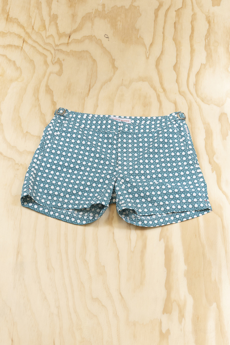 Orelbar brown setter short length swim short - Wicker Azure
