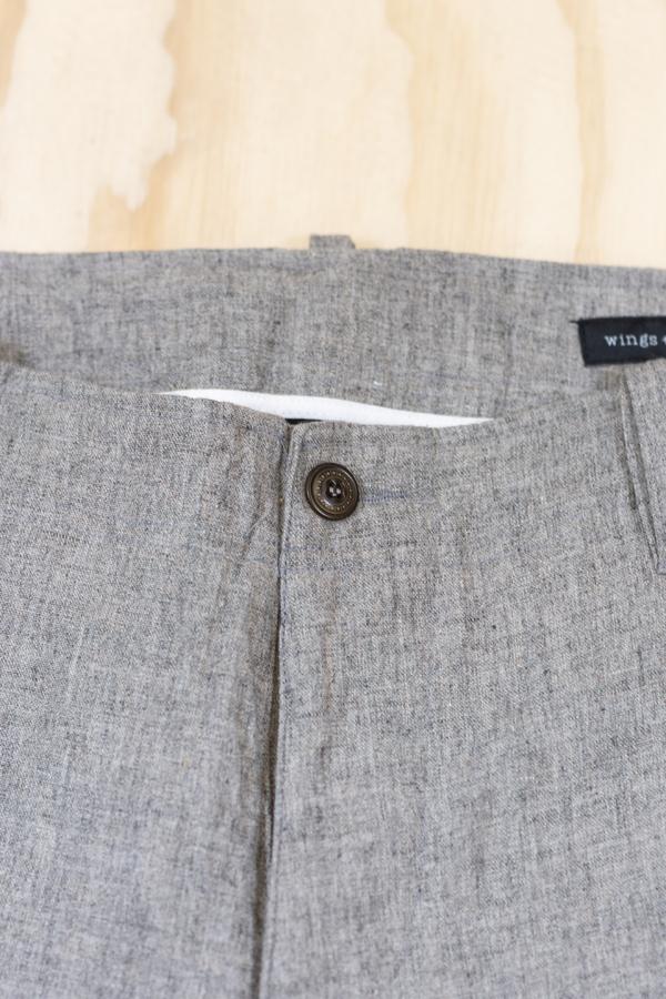 Wings + Horns Linen Pant - Grey