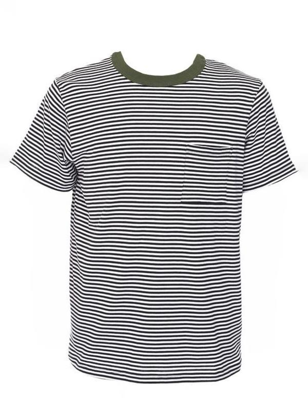 155518ee Paa SS Striped Pocket Tee | Garmentory