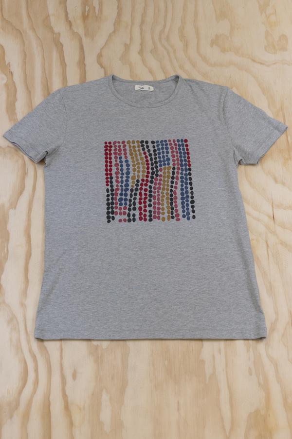 Folk Heather Grey Dot Print T