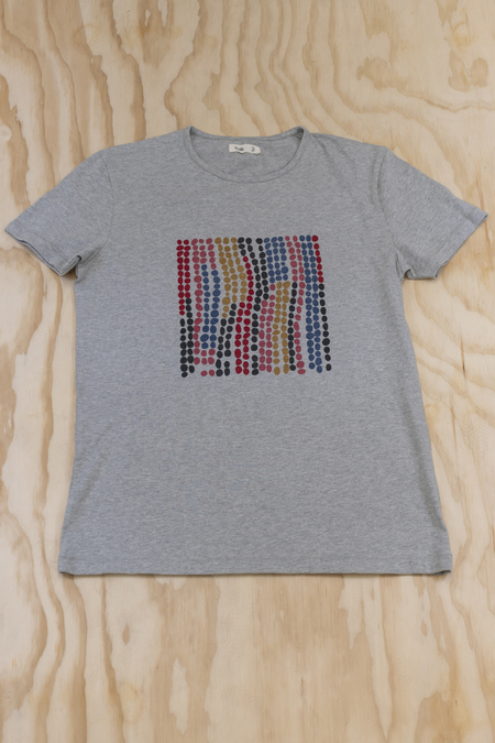 Folk Heather Grey Dot Print T
