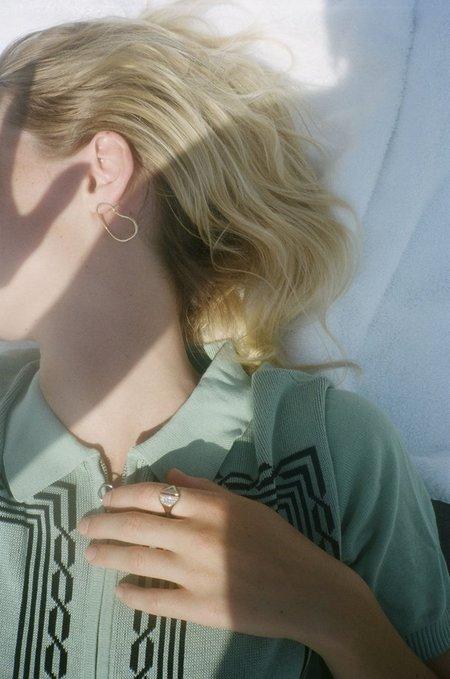 Bing Bang NYC Aalto Outline Earrings - 14k Yellow Gold