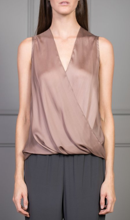 CLEMENTINE'S x MEROTTO Sleeveless Wrap Top - Blush