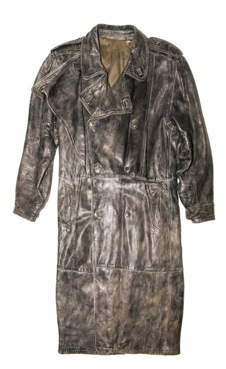 Vintage Krammer & Stoudt Captain Beefheart Zig Zag Wonder Leather Trench