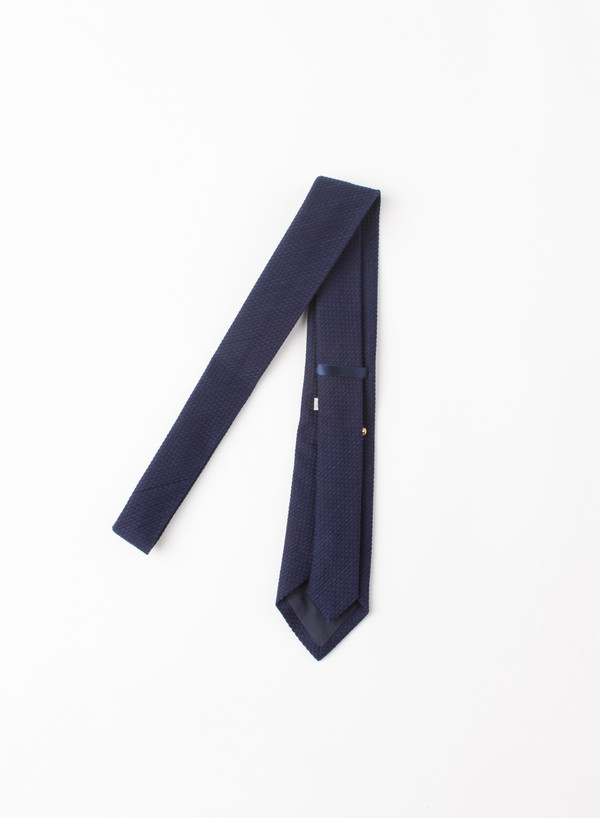 Blue Blue Japan Indigo Dyed Quot Sashiko Quot Cotton Neck Tie