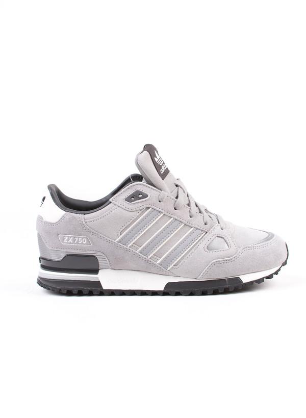 promo code 20823 ef698 Men s Adidas ZX 750 Grey Suede