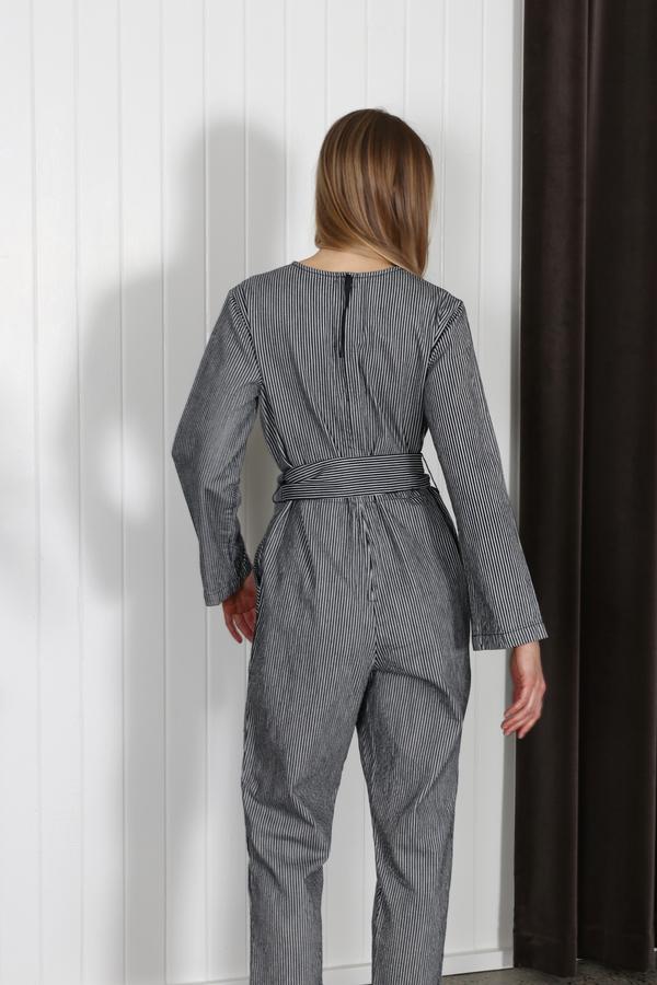 Apiece Apart Morena Pocket Jumpsuit - Railroad Stripe