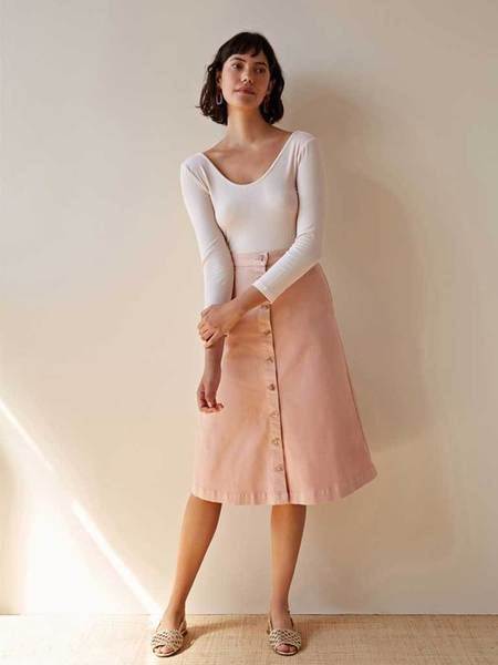 Des Petits Hauts Luliana Button Through Skirt - Pink