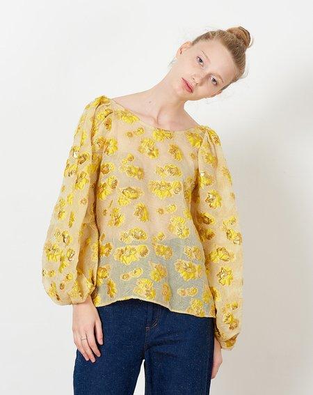 Rachel Comey Swoop Top - Citron Begonia