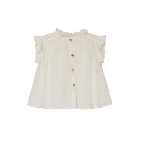 KIDS Yellow Pelota Lei Blouse - Ivory