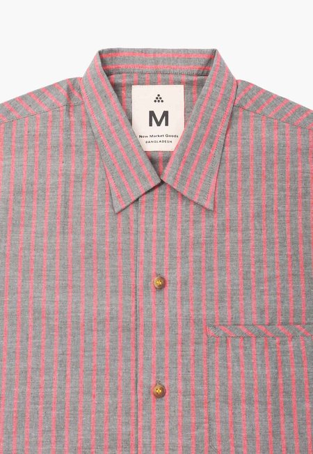 Deshal Rakta Box Button-Down - Vintage Stripe