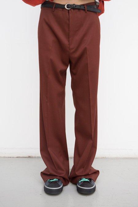Lanvin 30CM Wide Trouser - Brick Red