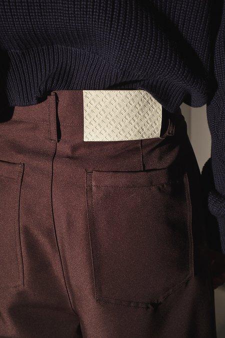 Sunnei Cropped Wide Leg Trouser - BROWN