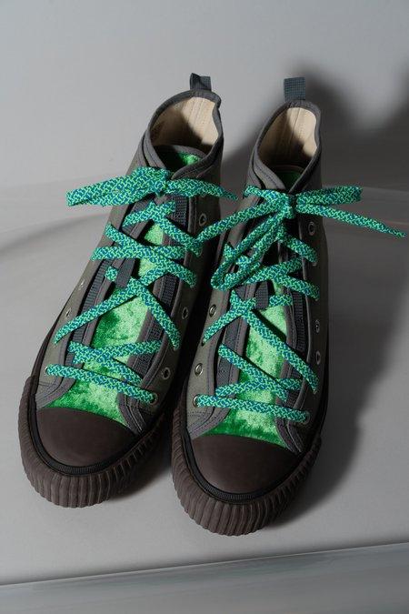Lanvin Canvas & Velvet Mid Top Sneaker