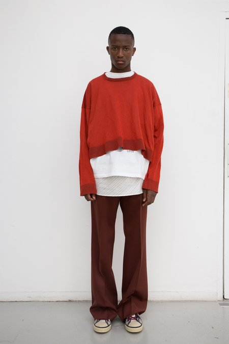 Lanvin Cropped Textured Bias Knit