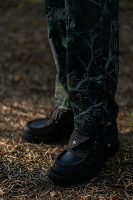 Lanvin Straight Nylon Trouser - Forest Camouflage