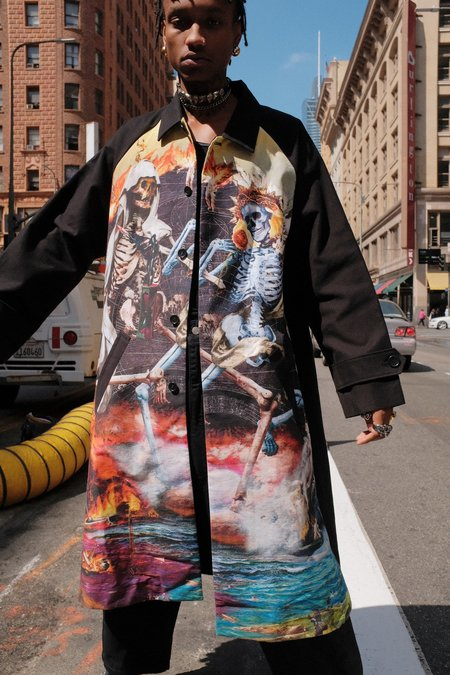 Kidill Inferno Print Mac Coat
