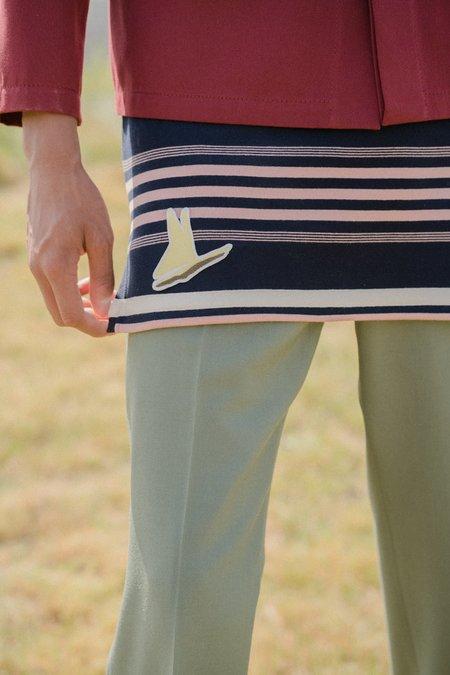 Marni Long Knit Striped Tank Sweater