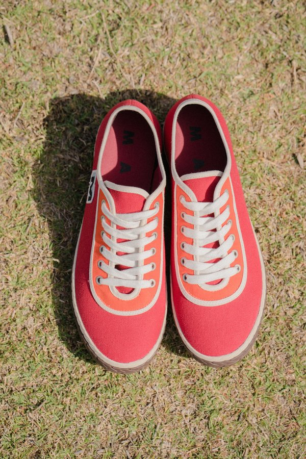 Marni Low Top Canvas Sneaker - Lipstick Orange