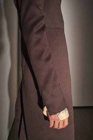 LUDOVIC DE SAINT SERNIN Raw Edge Popper Coat