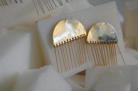 Hey Murphy Half Moon Tassel Earrings