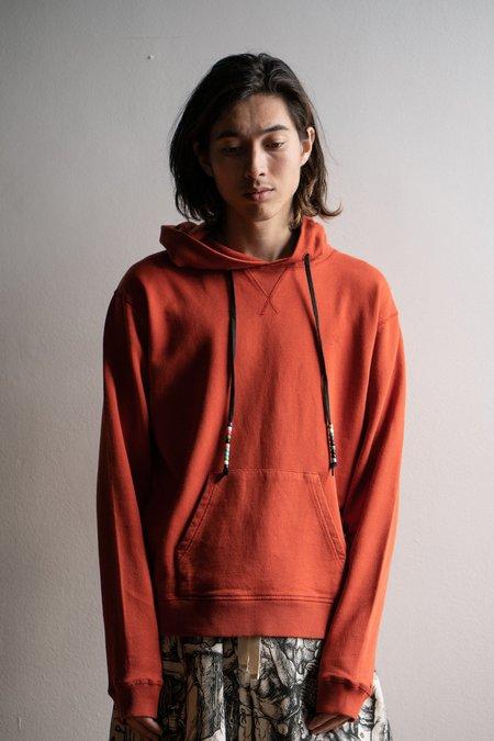 JW ANDERSON Beaded String Hoodie - Saffron