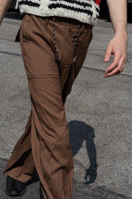 Marni Tropical Wool Wide Drawstring Pant