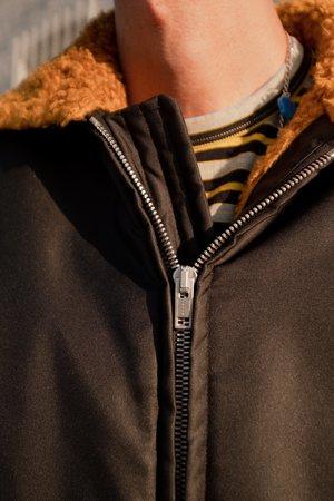 Marni Zip Faux Fur Bomber Jacket