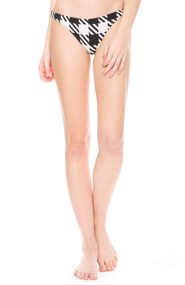 Solid and Striped Eva Bikini Bottoms - Gingham Print