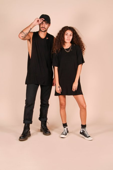 Unisex Bad Decision Adventure Club THE DISTRESSED JOHNNY TEE - BLACK