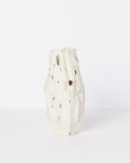 Lily Fein Vase - Green Dots