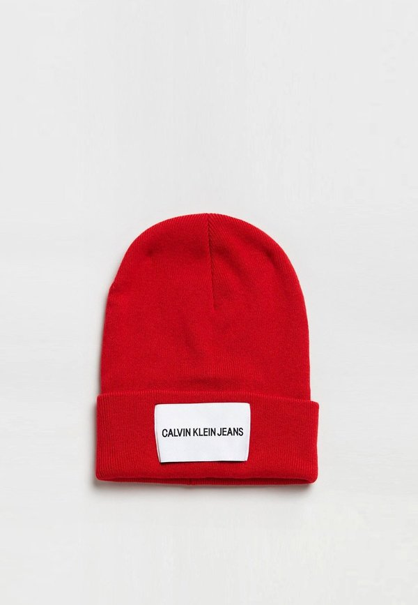 cba466328 Unisex Calvin Klein Jeans Beanie - High Risk Red on Garmentory