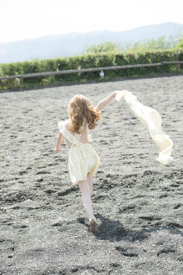 KIDS Moon Paris Nina Dress - Golden Flowers