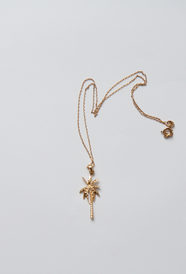 Bird on A WIRE Amélie Palm Tree Pendant Necklace - Gold